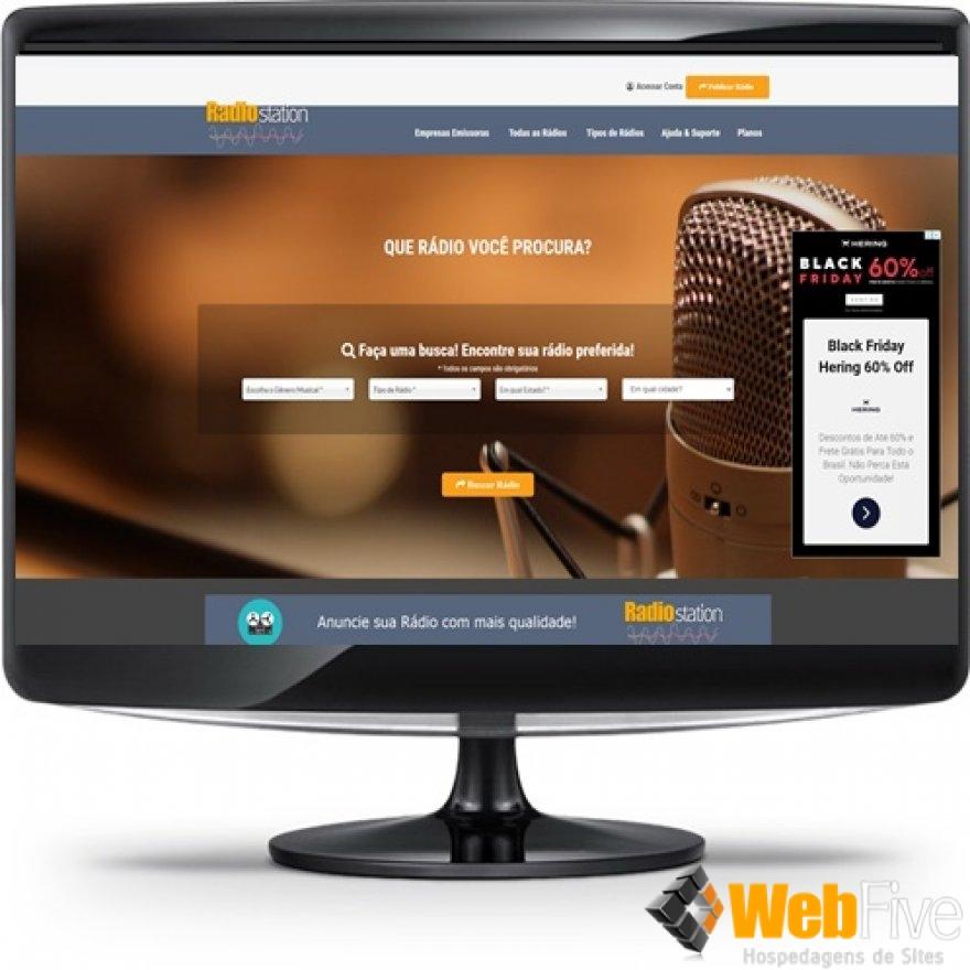 Lançamento - Site Classificados Web Rádio c/ módulo PG Paypal